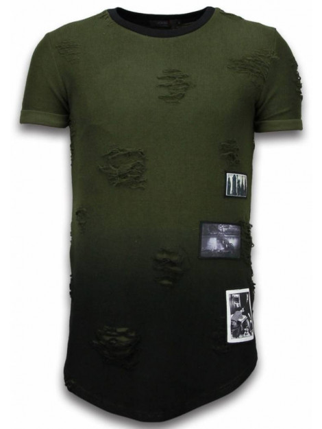 Justing Pictured flare effect t-shirt long fit T09182G large