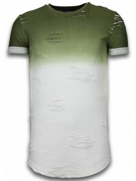 Justing Flare effect t-shirt long fit T09165GR large