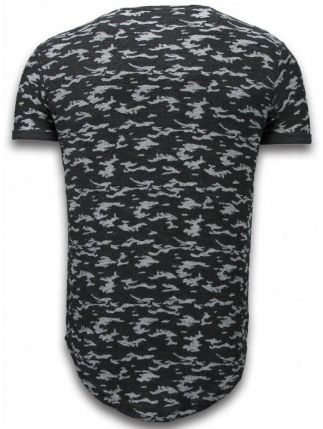 Justing Fashionable camouflage t-shirt long fit SW330Z large
