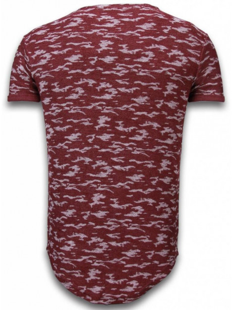 Justing Fashionable camouflage t-shirt long fit SW330BR large