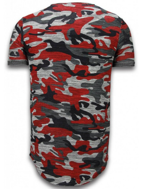 Justing Assorted camouflage t-shirt long fit camo shirt chest pocket P-92BR large