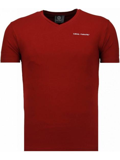Local Fanatic Basic v neck t-shirt 5799BX large