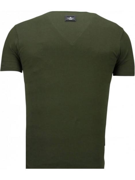 Local Fanatic Basic v neck t-shirt 5799G large