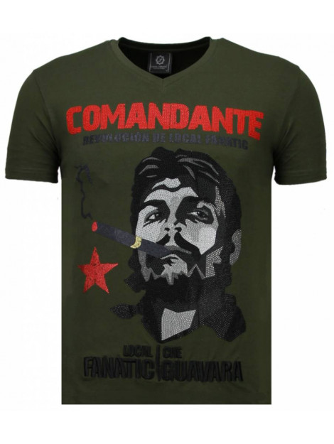 Local Fanatic Che guevara comandante rhinestone t-shirt 5781G large