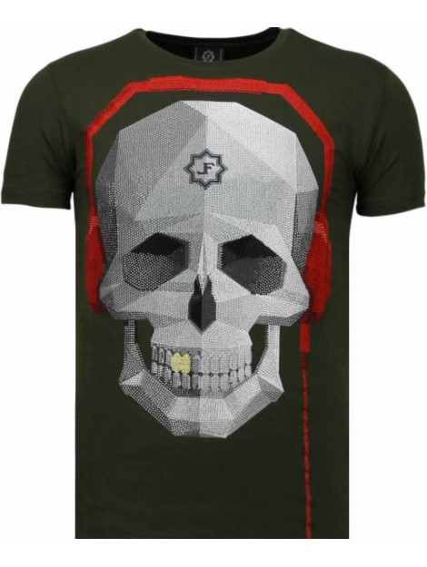 Local Fanatic Skull bring the beat rhinestone t-shirt 5779G large
