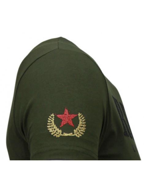 Local Fanatic Skull rebel rhinestone t-shirt 5776G large