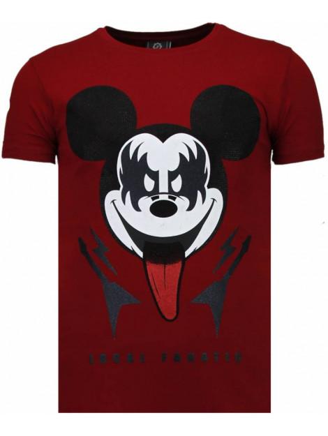 Local Fanatic Kiss my mickey rhinestone t-shirt 5771R large