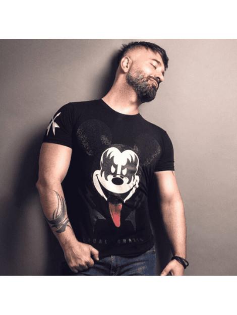 Local Fanatic Kiss my mickey rhinestone t-shirt 5771Z large