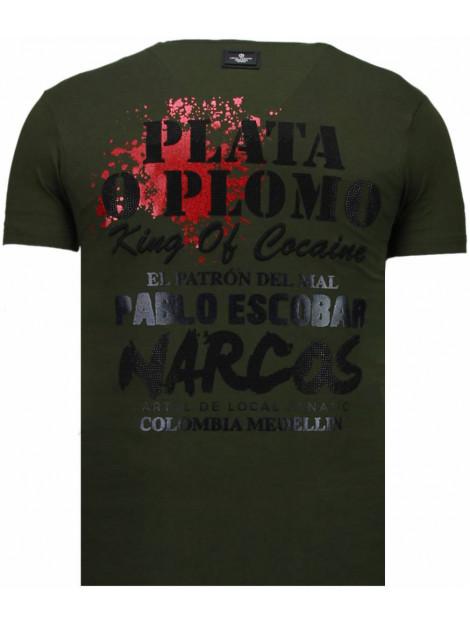 Local Fanatic Pablo escobar narcos rhinestone t-shirt 5782G large