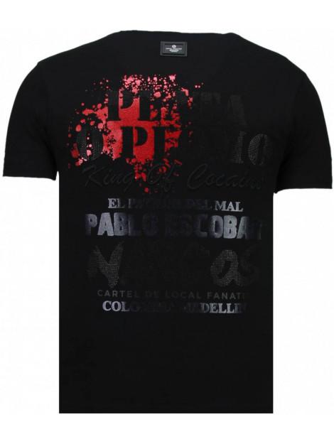 Local Fanatic Pablo escobar narcos rhinestone t-shirt 5782Z large