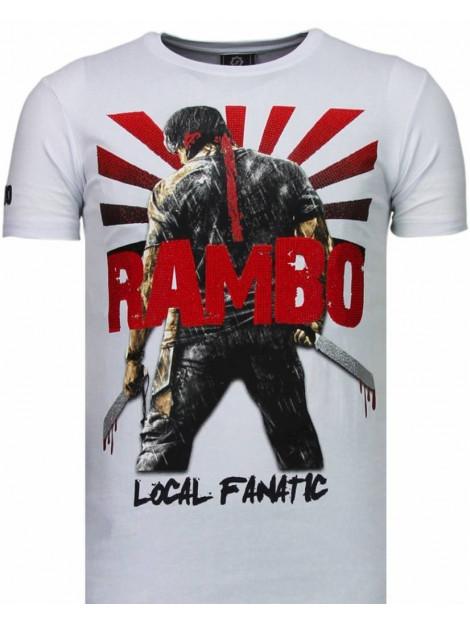 Local Fanatic Rambo shine rhinestone t-shirt 5769W large