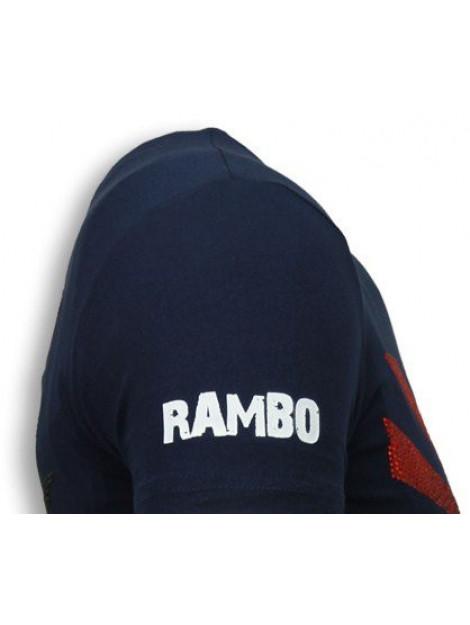 Local Fanatic Rambo shine rhinestone t-shirt 5769B large