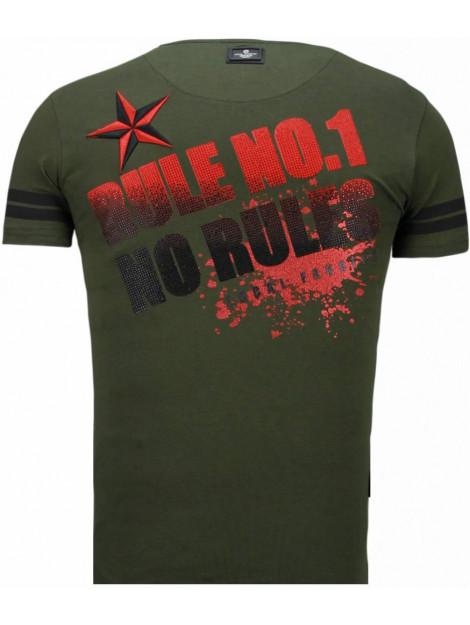 Local Fanatic Fighter! rhinestone t-shirt 5759G large