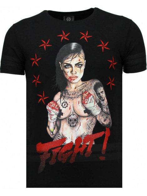 Local Fanatic Fighter! rhinestone t-shirt 5759Z large