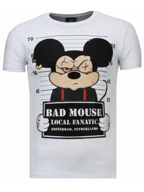 Local Fanatic State prison rhinestone t-shirt 5764W large