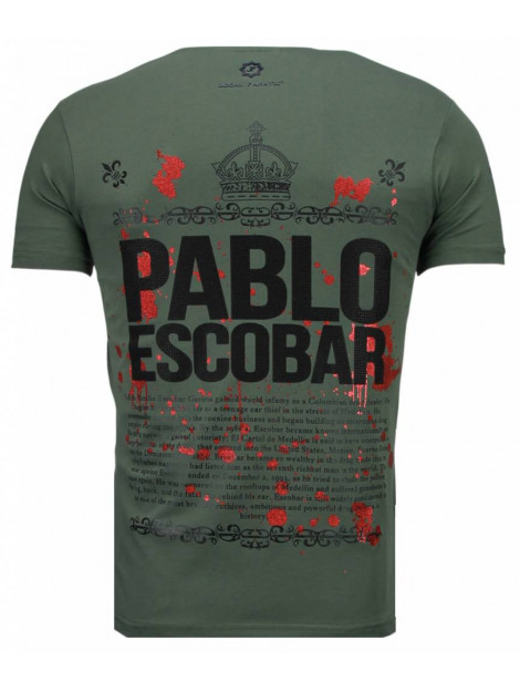 Local Fanatic Pablo escobar boss rhinestone t-shirt 5082G large