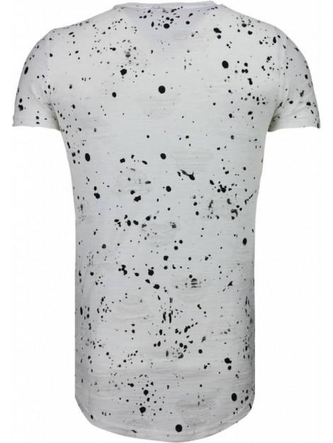 Justing Military patches paint splash t-shirt T09134  / T09179 large