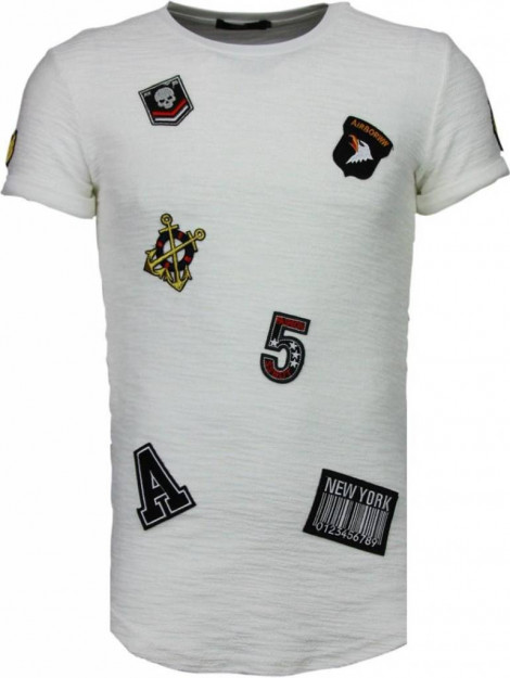 Justing Military patches t-shirt T09150W large