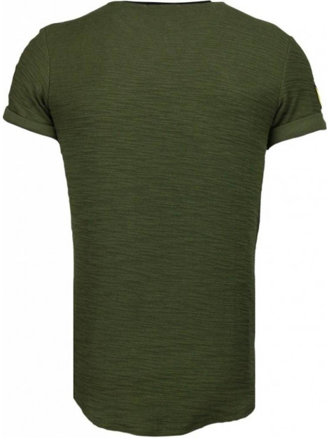Justing Military patches t-shirt T09150G large