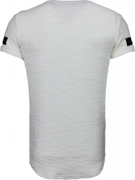Justing Zipped chest t-shirt T09149W large