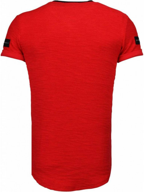 Justing Zipped chest t-shirt T09149R large