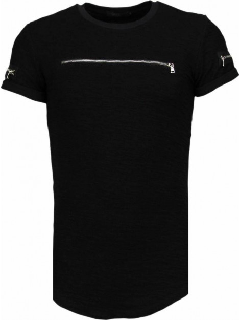 Justing Zipped chest t-shirt T09149Z large