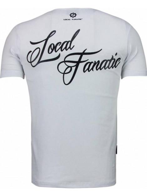 Local Fanatic Holy mary rhinestone t-shirt 5097W large