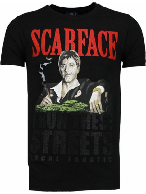 Local Fanatic Scarface boss rhinestone t-shirt 5093Z large