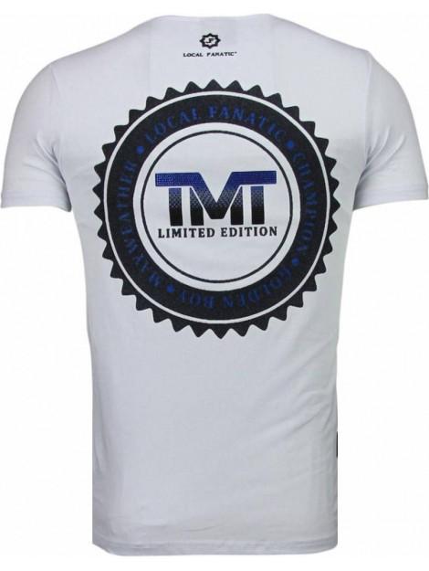 Local Fanatic Golden boy mayweather rhinestone t-shirt 5092W large