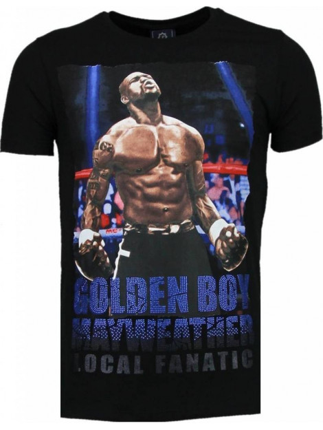 Local Fanatic Golden boy mayweather rhinestone t-shirt 5092Z large