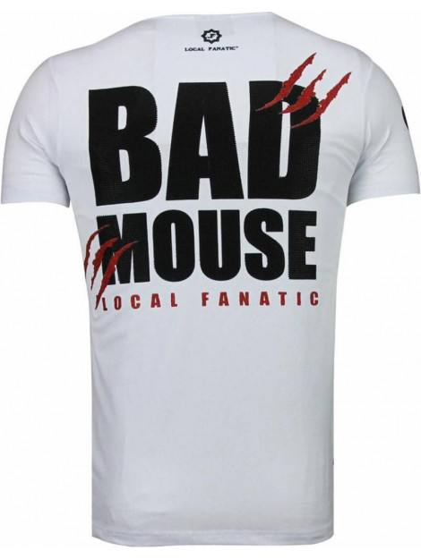 Local Fanatic Bad mouse rhinestone t-shirt 5090W large
