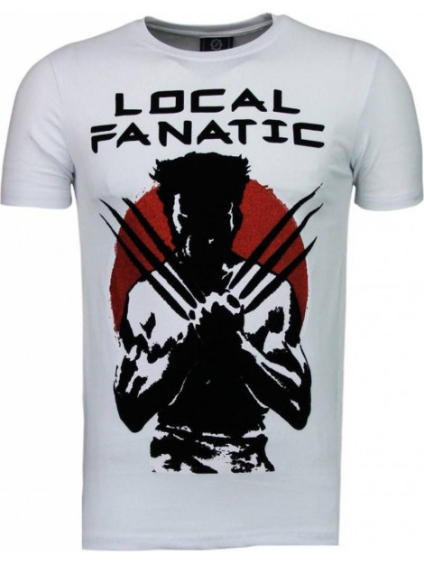 Local Fanatic Wolverine flockprint t-shirt 5089W large