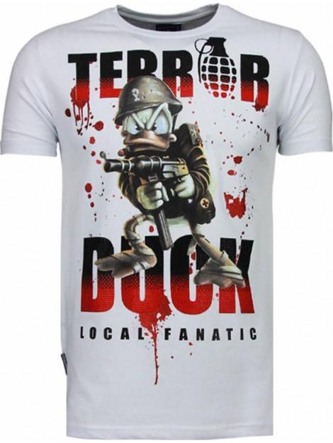 Local Fanatic Terror duck rhinestone t-shirt 5088W large