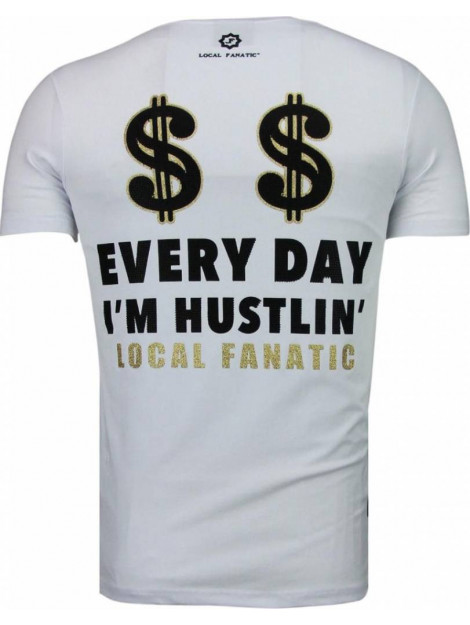 Local Fanatic Hustler rhinestone t-shirt 5087W large