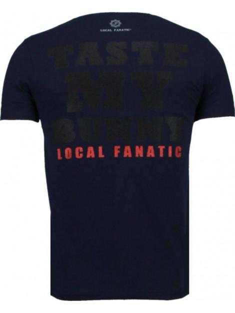 Local Fanatic Playtoy bunny rhinestone t-shirt 5086N large