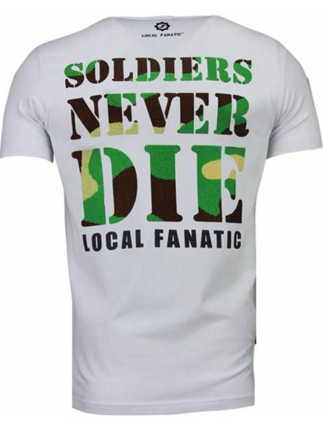 Local Fanatic Army skull rhinestone t-shirt 5081W large