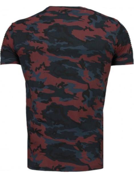 Tony Backer Camouflage ribbel t-shirt TB-1001BR large