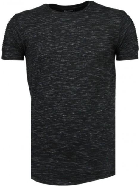 Tony Backer Sleeve ribbel t-shirt TB-1003Z large