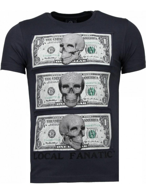 Local Fanatic Beter have my money rhinestone t-shirt 4773DG large