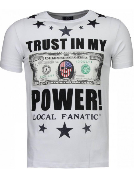 Local Fanatic Trust in my power rhinestone t-shirt 4783W large