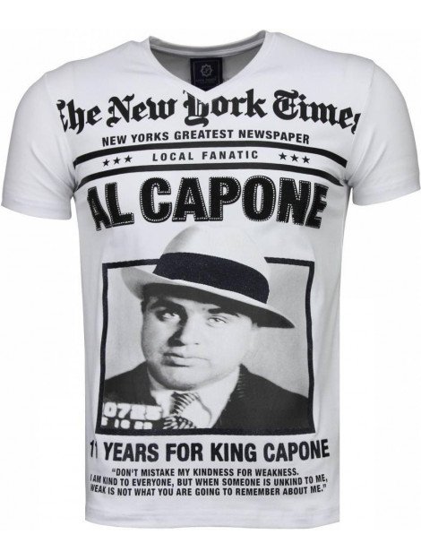 Local Fanatic Al capone rhinestone t-shirt 4784W large
