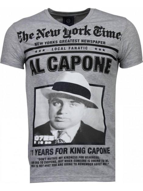 Local Fanatic Al capone rhinestone t-shirt 4784G large