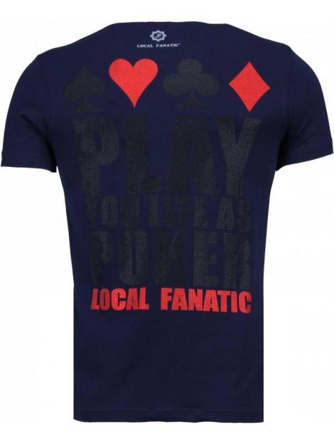 Local Fanatic Hot & famous poker bar refaeli rhinestone t-shirt 4782NB large