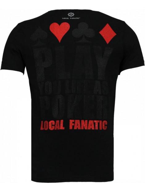 Local Fanatic Hot & famous poker bar refaeli rhinestone t-shirt 4782Z large