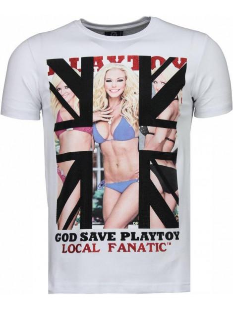 Local Fanatic God save playtoy rhinestone t-shirt 4778W large