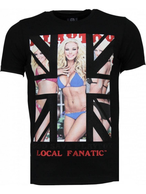 Local Fanatic God save playtoy rhinestone t-shirt 4778Z large