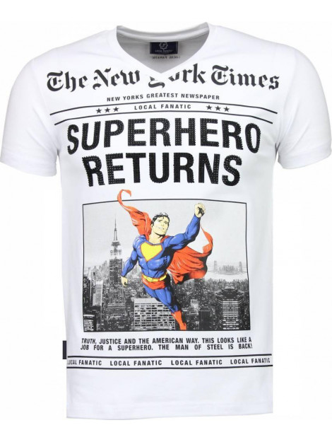 Local Fanatic Superhero returns t-shirt 2314W large