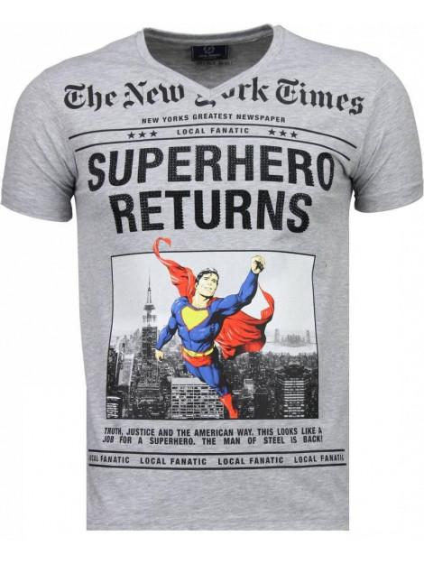 Local Fanatic Superhero returns t-shirt 2314G large