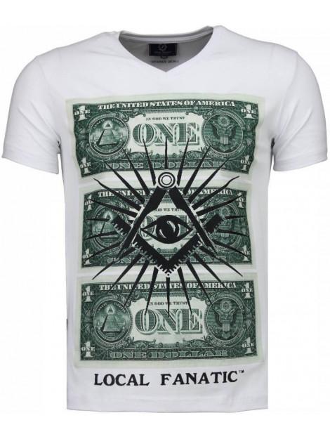 Local Fanatic One dollar eye t-shirt 4302W large