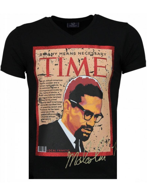 Local Fanatic Malcolm x t-shirt 4294Z large
